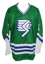 Custom Name # Springfield Indians Retro Hockey Jersey New Green Any Size image 4