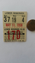 Ticket From Red Sox at Orioles DH, May 11, 1958-Gus Triandos Homer - $11.30
