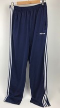 Adidas Navy Blue Breakaway Track Workout Pant Xl Snaps Athletic Spell Out Pocket - $34.65