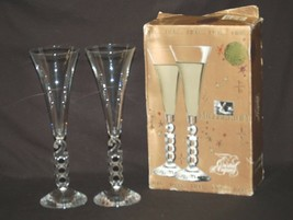 Millennium 2000 by Cristal D'Arques-Durand 10-1/4 Fluted Champagne 2000 ... - $16.82
