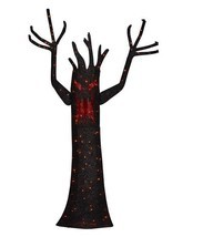 Halloween Yard Decor Animated Tinsel Ghost Tree 72 Inch LED Light Home A... - ₨7,413.77 INR