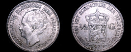 1929 Netherlands 1/2 Half Gulden World Silver Coin - $19.99