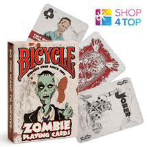 BICYCLE ZOMBIE PLAYING CARDS DECK FUNNY ZOMBIES APOCALYPSE HALLOWEEN MAD... - $8.01
