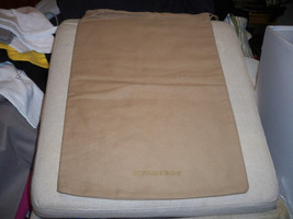 BURBERRY Tan with Gold logo Small Dust Bag 8x14  Authentic - $14.84