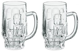 Borgonovo - Beer Glass Mug Cup 0.5 Liters 2Pcs