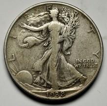 1938D Walking Liberty Half Dollar 90% Silver Coin Lot# A 229