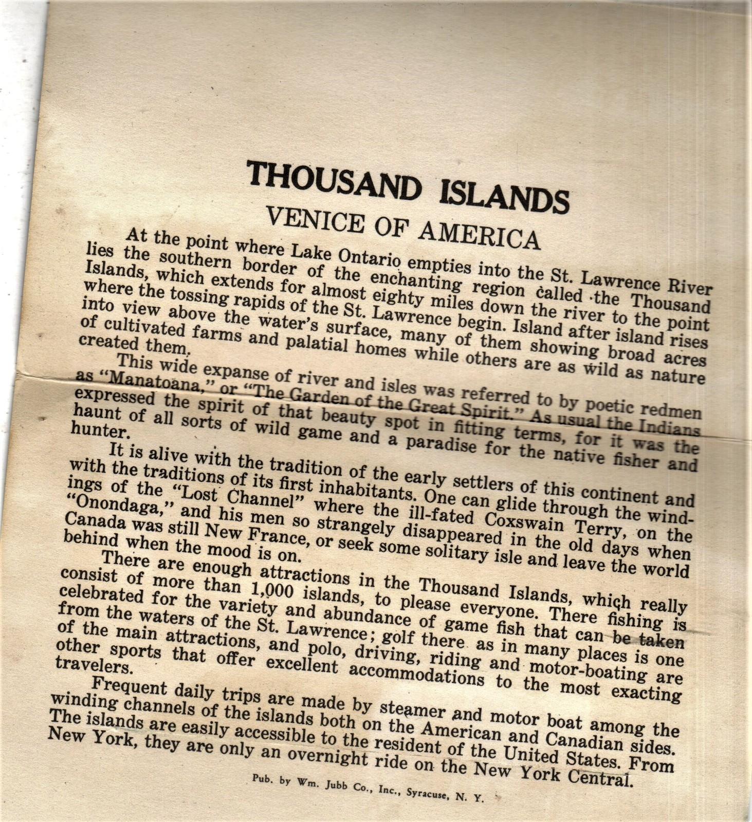 Thousand Islands Venice Of America Book & Souvenir Photo Booklet image 7
