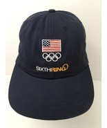 Olympic Team USA Hat Cap Exclusive Sixth Ring Blue Strapback Made In The US - $22.23