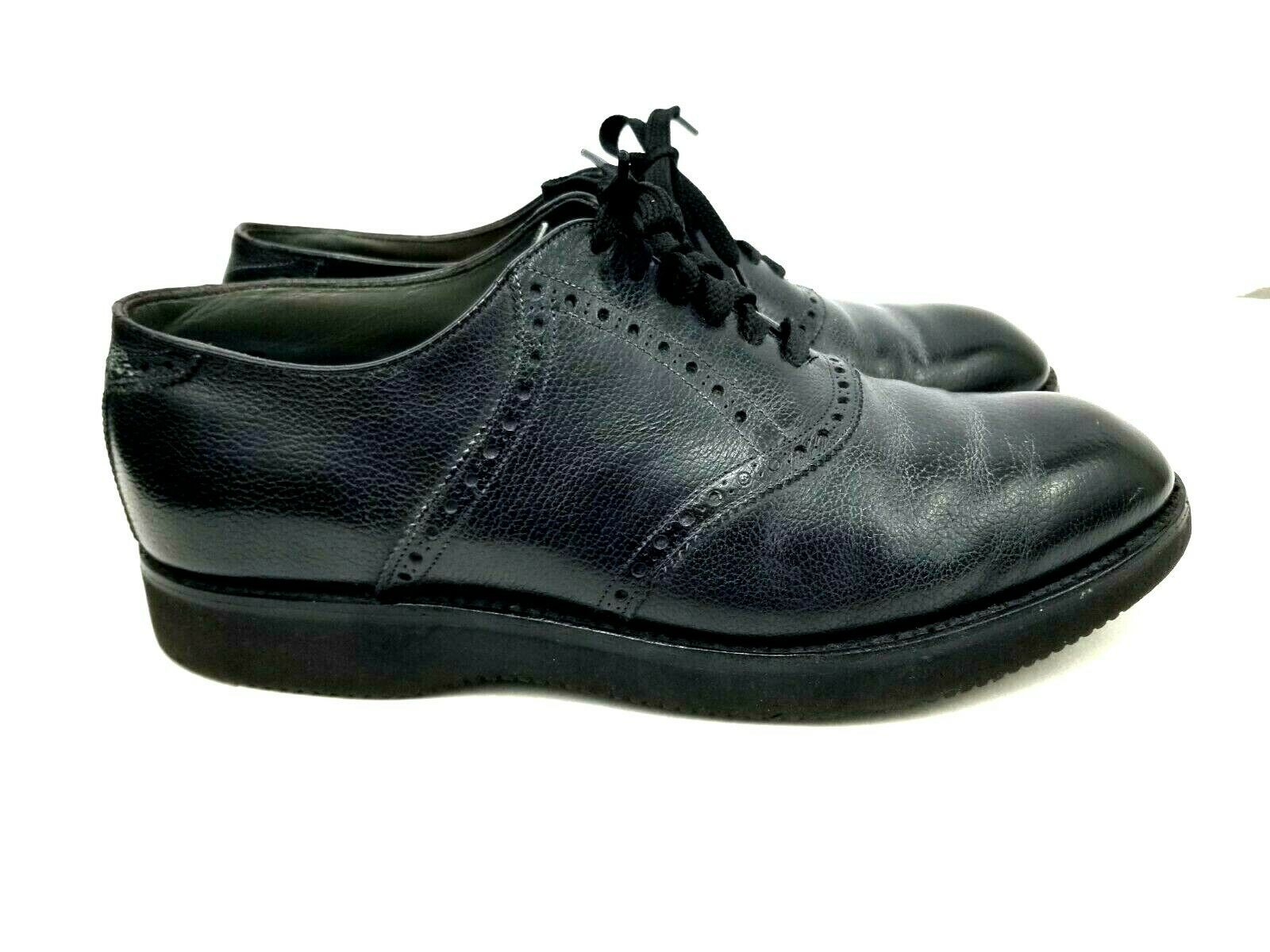 FootJoy Mens Oxford Shoes Size 11 EEE Dress-Walkers Black Leather Vibram Lace Up