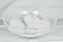 "Studio Nova Winter Rose Round Crystal Glass Centerpiece Bowl 12.5""  - $54.44"