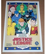 1986 JLA poster 1: Batman/Captain Marvel Shazam/Green Lantern/Mr Miracle... - $49.99