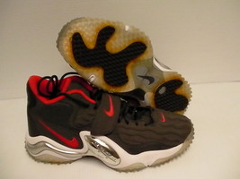 Nike air zoom turf jet shoes grey red size 12 us new - $118.75