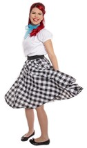 Black & White Check Circle Skirt w Crinoline - Swing Dance, Sock Hop - H... - $30.00