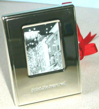 Kate Spade New York Silver Street Ornament Frame Etched Paint the Town Red New - $23.90
