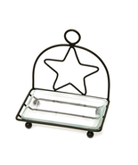 Farmhouse Black Star Bathroom Kitchen Soap Dish - $19.99