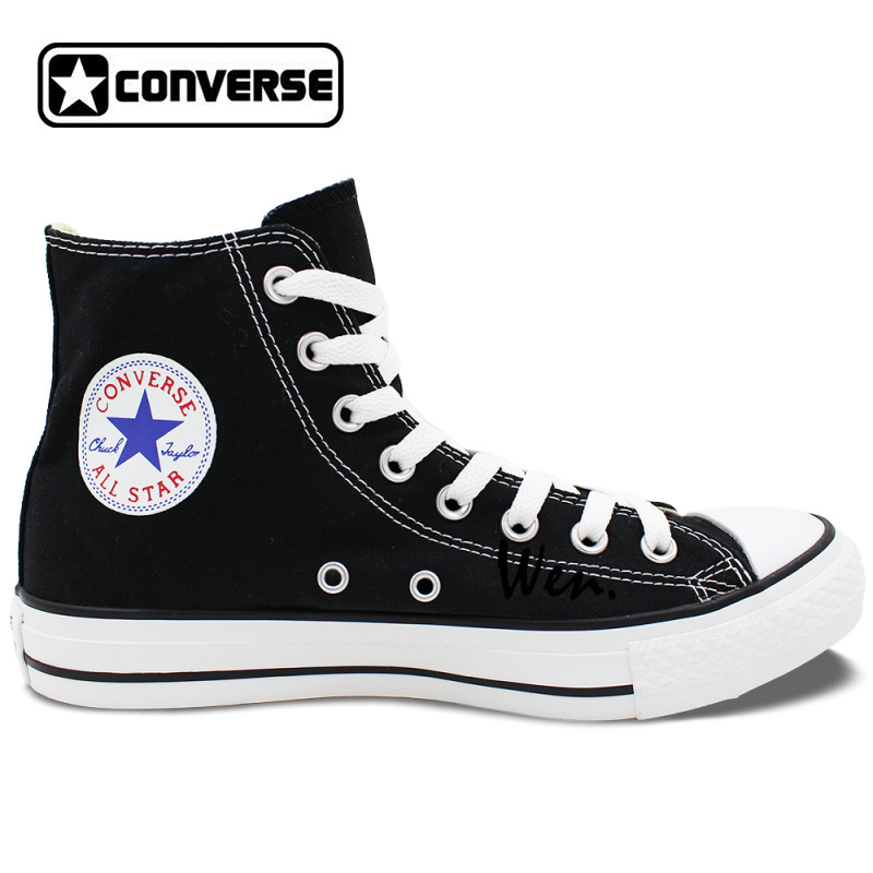 Classic Black Converse All Star Shoes Animal Panda Canvas Sneakers for Men Women