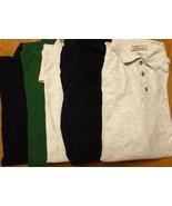 Men's Long Sleeve Golf Shirt Import XL 5 PC 4 Color 100% Cotton Ash Navy... - $25.95