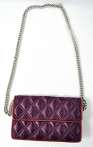 Marc By Marc Jacobs Quilted Satin Evening Bag Clutch Purse Handbag DK Purple New - $89.10
