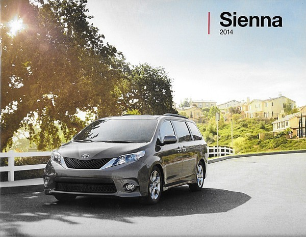Primary image for 2014 Toyota SIENNA sales brochure catalog 14 US SE XLE Limited