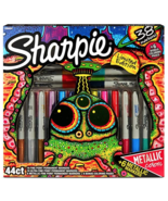 New Sharpie Limited Edition 44 Piece Gift Set Markers and Coloring Pages - $30.31