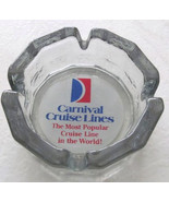 Vintage Collectible Carnival Cruise Lines Solid Pressed Heavy Glass Ciga... - $14.99