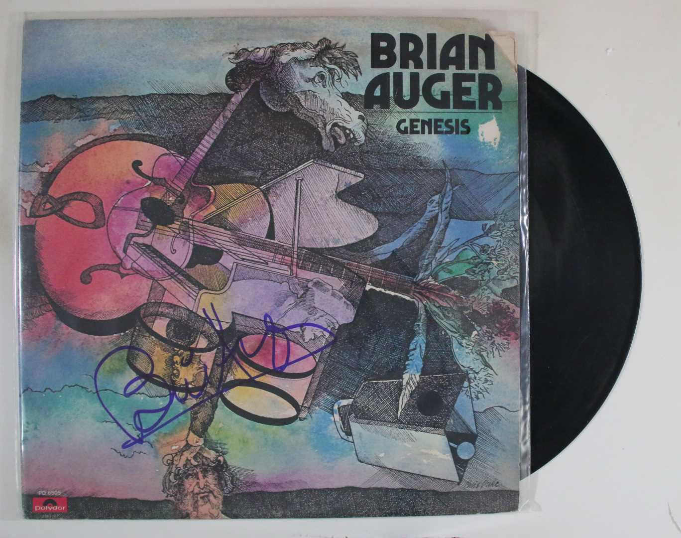 "Primary image for Brian Auger Signed Autographed ""Genesis"" Record Album"
