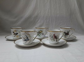 Hutschenreuther Germany Noblesse Pasco Audubon Birds Cups and Saucers Se... - $115.00
