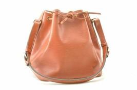 LOUIS VUITTON Epi Petit Noe Shoulder Bag Brown M44108 LV Auth th098 - $280.00