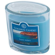 Colonial Candle Topaz Waters 4 oz. Jar Candle 2 wick - $8.00