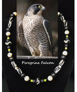 Peregrine Falcon artisan handcrafted genuine mother of pearl, shell, yel... - $79.00