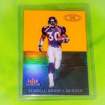 NFL TERRELL DAVIS DENVER BRONCOS 2000 FLEER TRADITION FOOTBALL 13 OF 15 MNT - $1.70