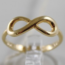 SOLID 18K YELLOW GOLD BAND INFINITE RING LUMINOUS ENDLESS INFINITY MADE IN ITALY image 1