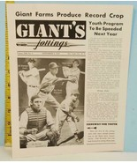1947 New York Giant's Jottings Baseball Newsletter Sept. 4 Vol. XIII No. 5 - $19.75