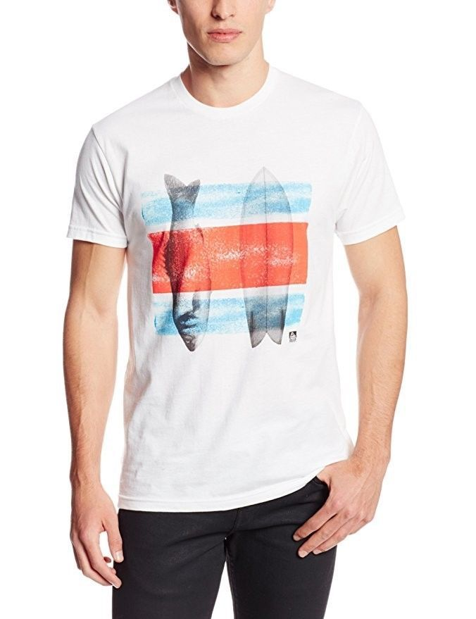 Men's REEF Tee Shirt Surfing Beach Casual Fish T-shirt Fished Out