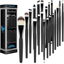 EmaxDesign 20 Pieces Makeup Brush Set Professional Face Eye Shadow Eyeli... - $12.21