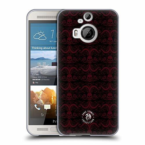 Official Anne Stokes Pattern 2 Skull 2 Soft Gel Case Compatible for HTC One M9+