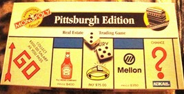 Monopoly Pittsburgh Edition  Board Game 1996-USA Opoly-Complete - $33.00