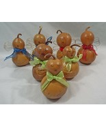 Meadowbrooke Hand Crafted Peaceful Angel Gourds Red Blue Green Ribbons C... - $17.59