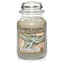 Yankee Candle Sage Citrus Home Classics Jar Candle Fresh Scent 22 oz Ret... - $34.64