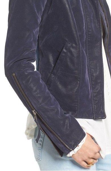 Free People Faux Leather Jacket   MSRP: $198.00 Mult sz