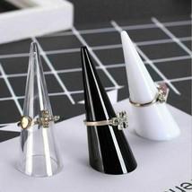 Fingertip Ring Stand Plastic Finger Cone Holder Storage Display Showcase... - $9.95