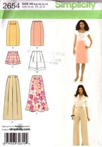UNCUT SIMPLICITY 2654 Misses Flared Skirt, Pants, Shorts - Sz 6-14 - $12.99