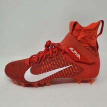 Nike Alpha Menace Elite 2 Flyknit Cleats Red Men's Size 10 (AO3374-600) - $79.15