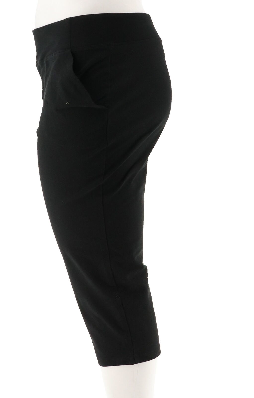Women with Control Petite Tummy Control Crop Pants Black PXS NEW A292370