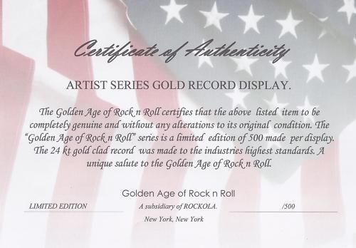 FREDDIE MERCURY GOLD RECORD SIGNATURE SERIES LIMITED EDITION DISPLAY