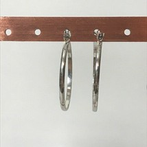 "Silvertone Hoop Earrings Pierced Approx. 1.25"" - $17.82"