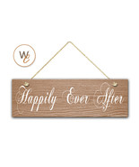 """Happily Ever After Sign, 5.5"""" x 17"""" Wood Sign, Rustic Home Decor, Weddin... - $20.25"""
