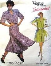 Vogue Pattern 1505 Size 8 Carol Horn Misses' & Misses' Petite Dress & Ju... - $7.51