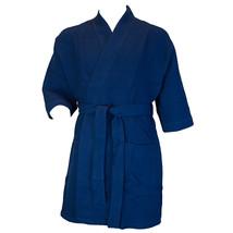 Terrytown Thigh Length Waffle Weave Kimono Robe Navy - $49.00