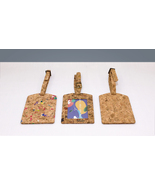EcoQuote Luggage Tag Unique Handmade Eco Friendly Cork Material Great fo... - $17.80